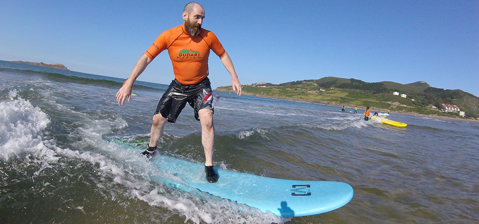Surf lessons for all ages Gudari Caribe Mundaka