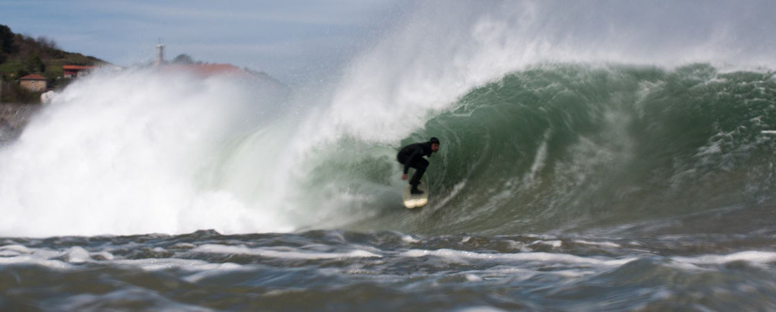 Surf Barrel in Mundaka