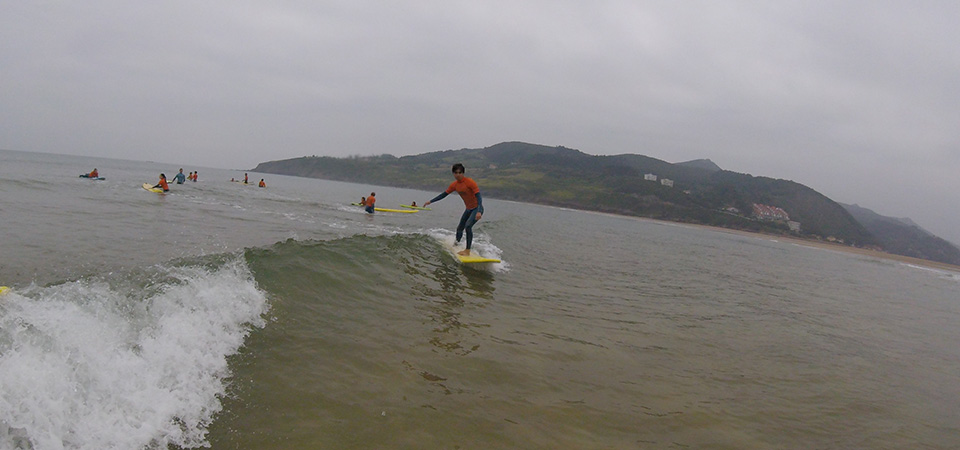 On the waves Gudari Caribe Mundaka Surf
