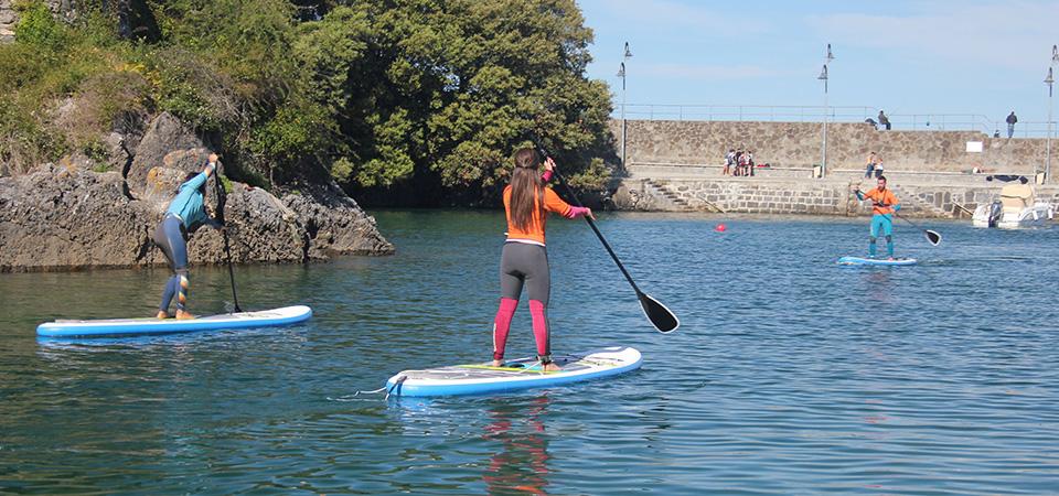 Practicas de Standup paddleboarding