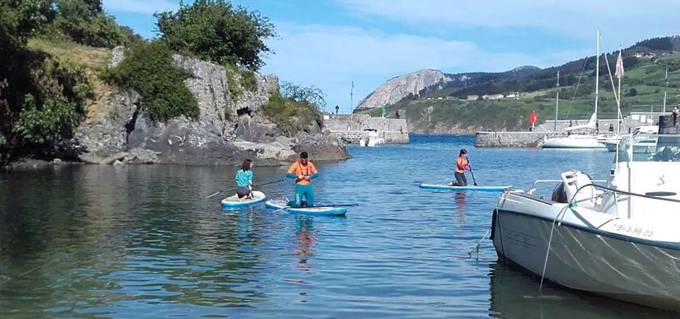 Paddle rides on the Marine of Mundaka 2